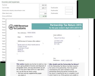 Partnership Tax Return Form