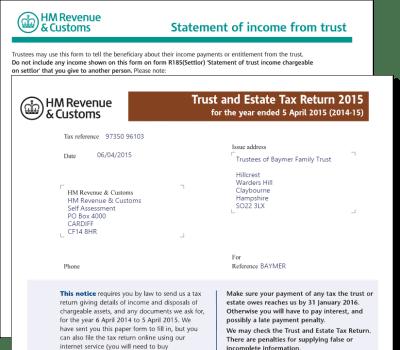 Trust and Estate Tax Return Form