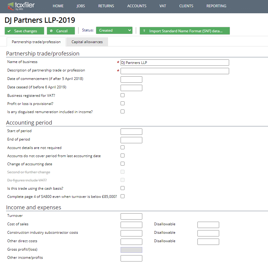 partnership tax return filing - Taxfiler Software